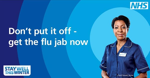 Don't put it off - get the flu jab now